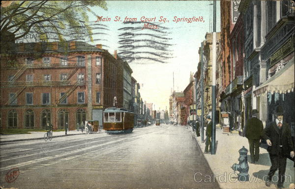 Main St. from Court Sq. Springfield Massachusetts