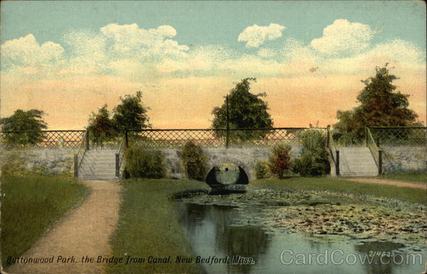 Buttonwood Park, the Bridge from Canal New Bedford Massachusetts