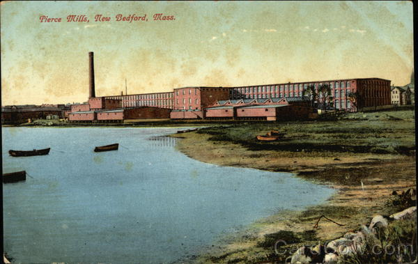 Water View of Pierce Mills New Bedford Massachusetts