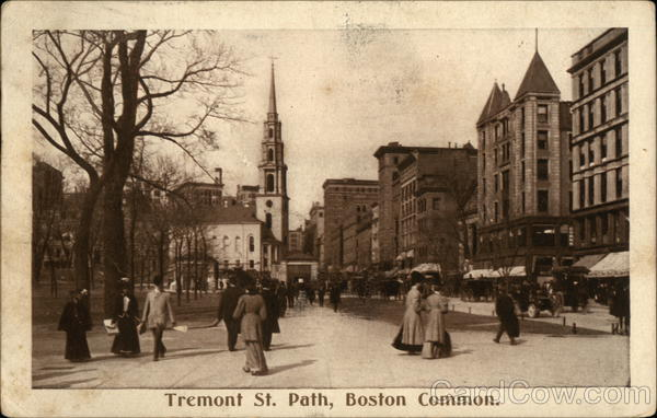 Tremont Street Path, Boston Common Massachusetts