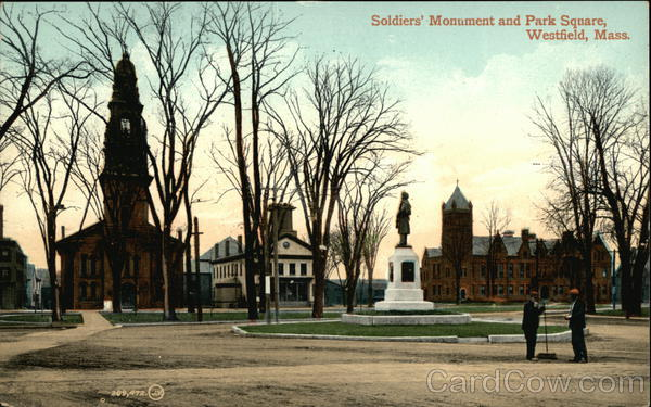 Soldiers' Monument and Park Square Westfield Massachusetts