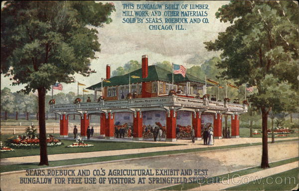 Sears, Roebuck and Co.'s Agricultural Exhibit and Rest Bungalow Springfield Illinois