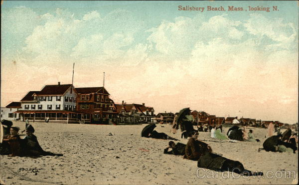 Salisbury Beach, Mass., Looking N. Massachusetts