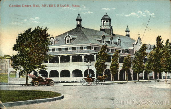 Street View Of Condits Dance Hall Revere Beach Massachusetts
