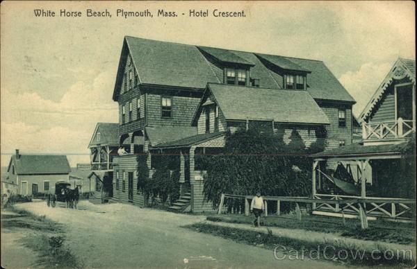 White Horse Beach Hotel Crescent Plymouth Ma Postcard
