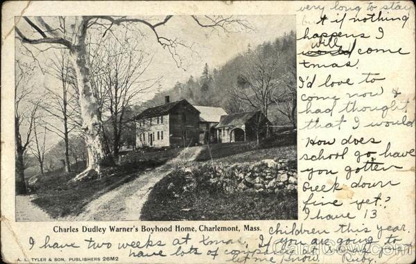 Charles Dudley Warner's Boyhood Home Charlemont Massachusetts