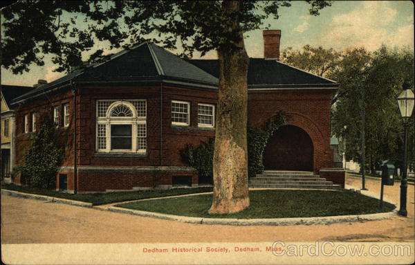 Dedham Historical Society Massachusetts