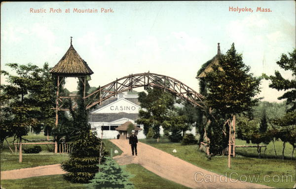 Rustic Arch at Mountain Park Holyoke Massachusetts