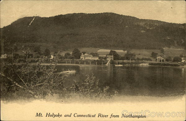 Mt. Holyoke and Connecticut River from Northampton Massachusetts