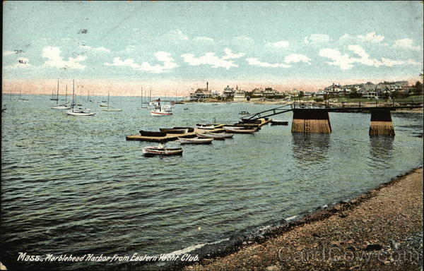 Marblehead Harbor from Eastern Yacht Club Massachusetts