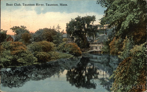 Boat Club on the Taunton River Massachusetts