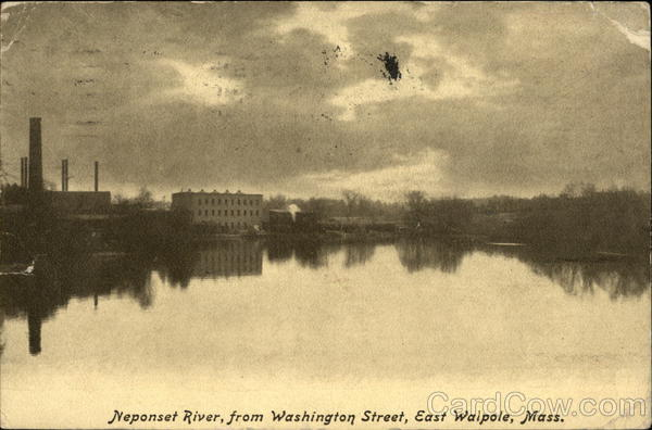 Neponset River from Washington Street East Walpole Massachusetts
