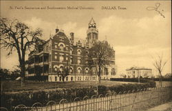 St. Paul's Sanitarium and Southwestern Medical University Postcard