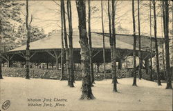 Whalom Park Theatre in the Snow Postcard