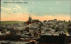 Bird's-Eye View of Spencer, Mass.