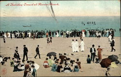 A Holiday Crowd at Revere Beach