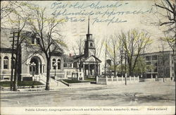 Public Library, Congregational Church and Kimball Block