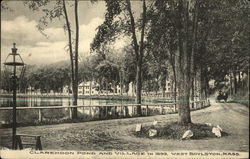 Clarendon Pond and Village in 1899