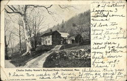 Charles Dudley Warner's Boyhood Home Postcard