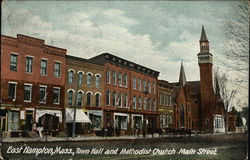 Town Hall and Methodist Church on Main Street