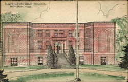 Hamilton High School Postcard