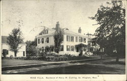 Rose Villa, Residence of Henry W Cushing