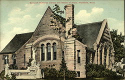 Bancroft Memorial Library and Statue of Hope Postcard