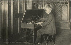 Prof. Hammond at the Clavichord - Mt. Holyoke College