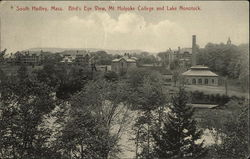 Bird's Eye View, Mt Holyoke College and Lake Nonotuck