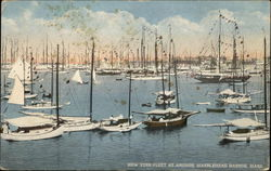 New York Fleet at Anchor, Marblehead Harbor