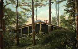 Log Cabin, front view, Pine Banks Park
