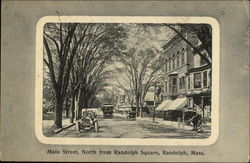 Main Street, North from Randolph Square Postcard
