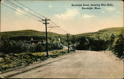 Randolph Road, showing Blue Hills Postcard