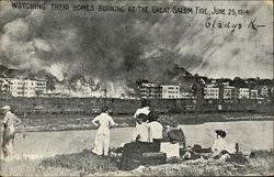 Watching Their Homes Burn at the Great Salem Fire, June 25, 1914