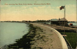 View Showing Sea Wall and Point Shirley