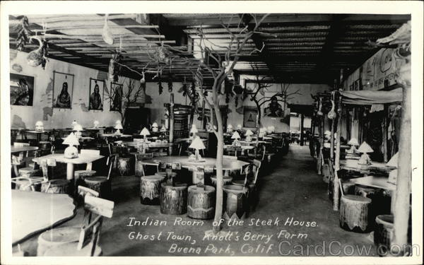 Indian Room of the Steak House, Ghost Town, Knott's Berry Farm Buena Park California