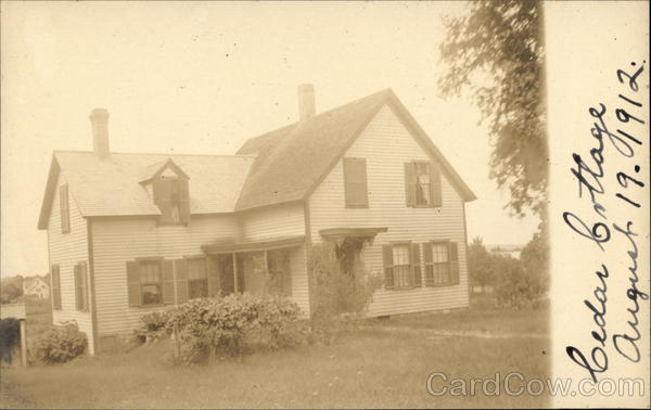 Ceder Cottage in 1912 in Franklin, MA Massachusetts