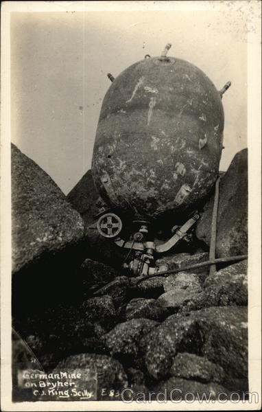 German Mine on Bryher C.J. King Military
