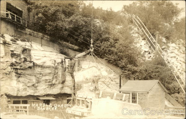 Vermont Danby Marble : Marble quarry in danby vermont postcard