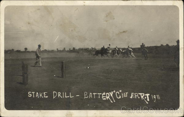 Stake Drill, Battery C 1st F. A. R.T., 1911 Military