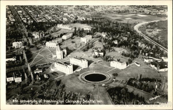 Aerial View - University of Washington Campus Seattle