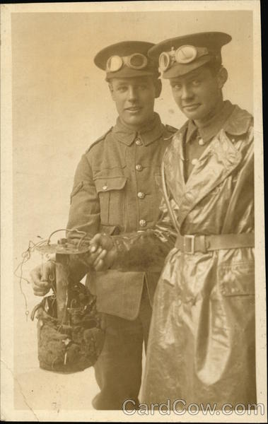 Two Cyclists of the 6th Cyclist Battalion Sussex Regiment UK