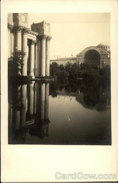 Columns in Lake San Francisco California 1915 Panama-California Exposition