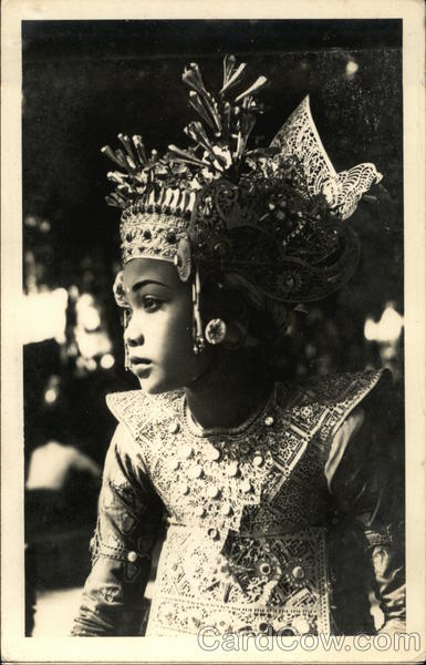 Balinese Dancer in Full Dress Asian