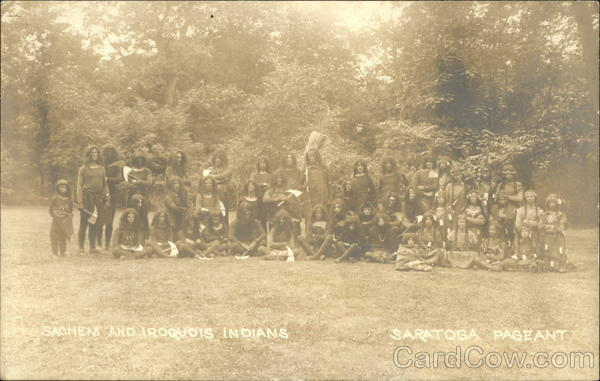Sachem and Iroquois Indians, Saratoga Pageant Native Americana