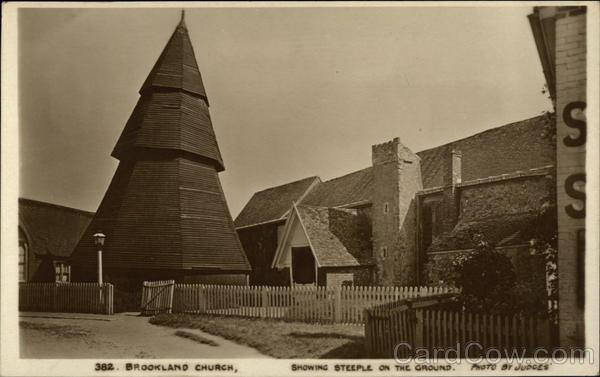 Brookland Church showing Steeple on the Ground England