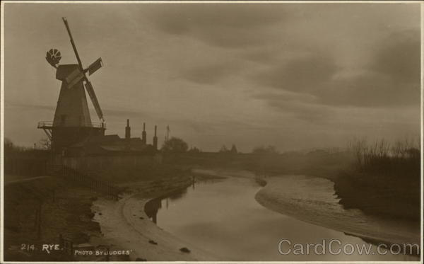 Windmill and River Rye England Sussex