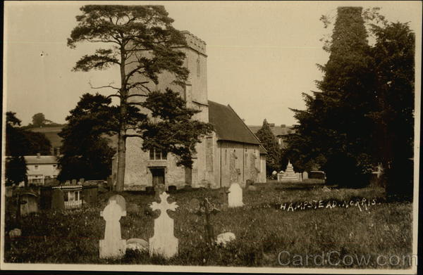 Church and Churchyard Hampstead Norris England