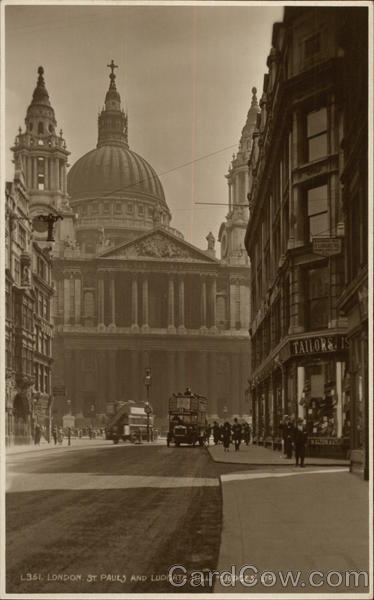 St. Paul's Cathedral and Ludgate Hill London England