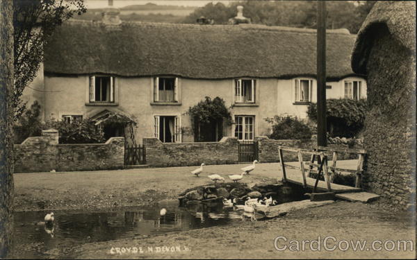 Village House and Duck Pond Croyde England